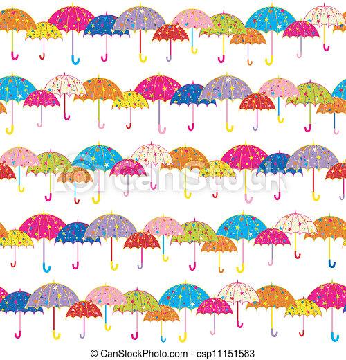 modèle, parapluie, seamless, coloré - csp11151583
