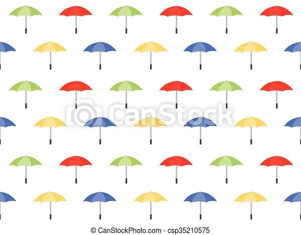 modèle, parapluie, seamless, fond, coloré - csp35210575