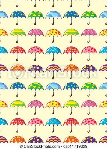 modèle, parapluie, seamless - csp11719829