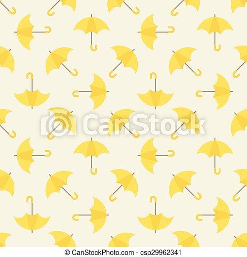 modèle, parapluie, seamless, jaune - csp29962341