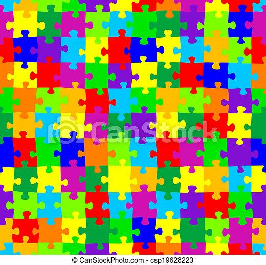 modèle, puzzle, puzzle, seamless - csp19628223
