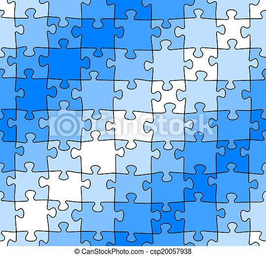 modèle, puzzle, puzzle, seamless - csp20057938