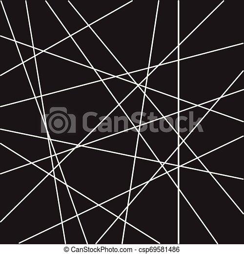 modèle, résumé, aléatoire, lignes, raie, géométrique - csp69581486