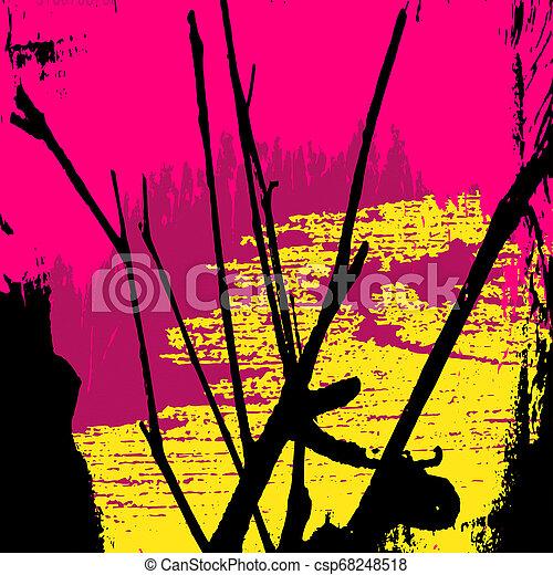 modèle, résumé, graffiti, coloré - csp68248518
