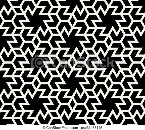 Modele Resume Seamless Formes Vecteur Noir Geometrique Hexagonal Carrelage Blanc Modele Resume Seamless Formes