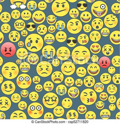 Modèle Seamless Emoji