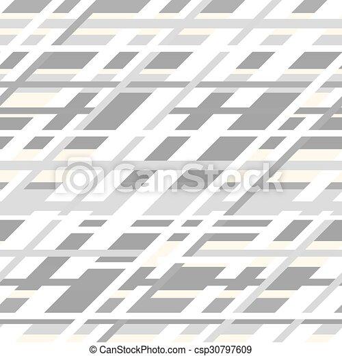 modèle, seamless, gris, couleurs, vecteur, retro, géométrique - csp30797609