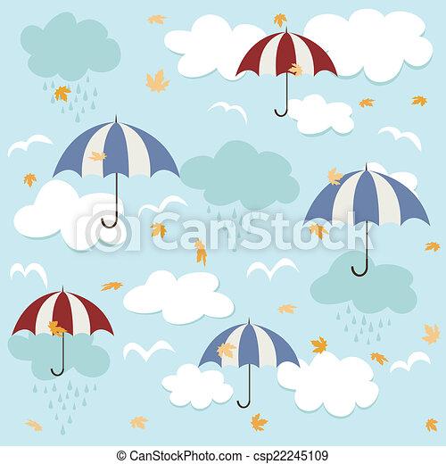 modèle, seamless, parapluies - csp22245109