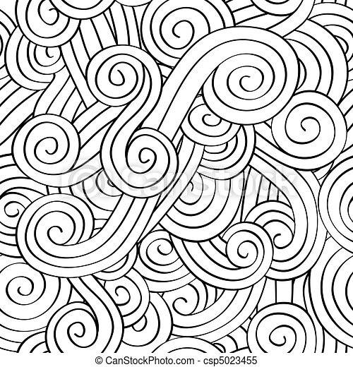 modèle, seamless, spirale - csp5023455