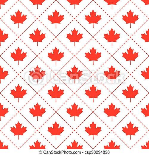 modèle, symbole, feuille, érable, canadien - csp38234838