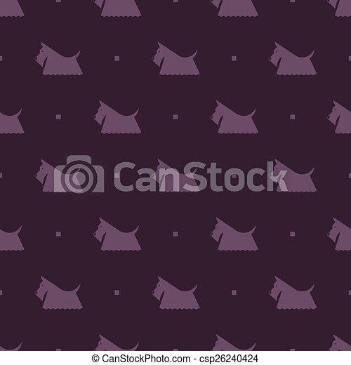 modèle, terrier, chien, écossais - csp26240424