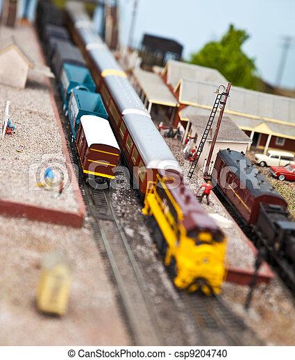 modèle, trains - csp9204740