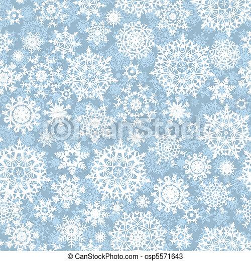 modèle, vecteur, flocons, seamless, neige - csp5571643