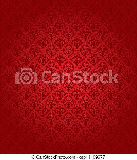 modèle, (wallpaper), seamless, rouges - csp11109677