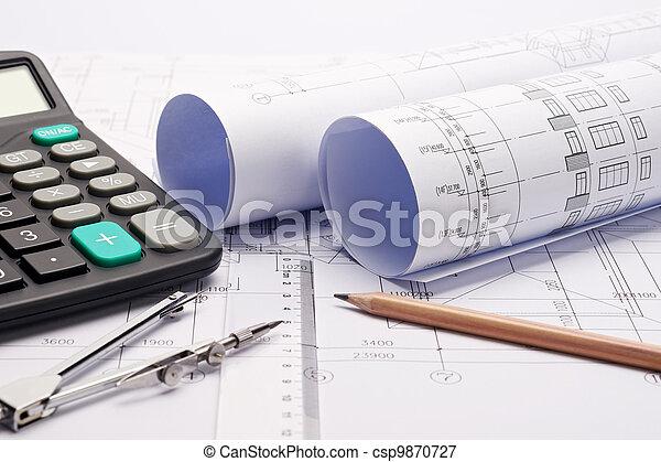 modèles, construction, outils, plan - csp9870727