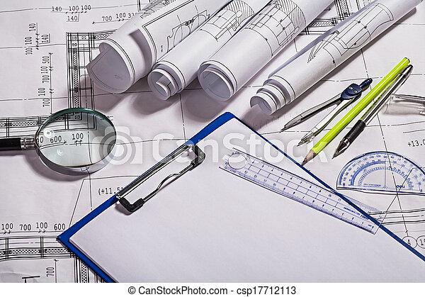 modèles, outils, dessin - csp17712113