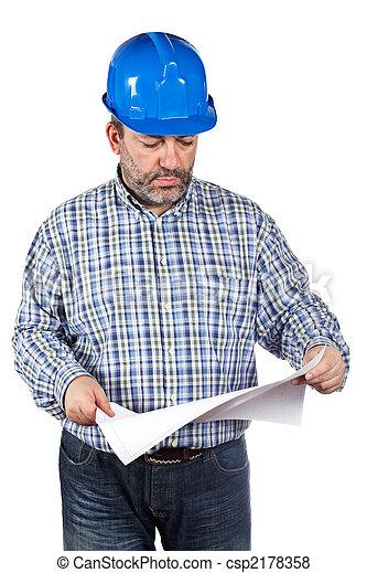 modèles, ouvrier construction, tenue - csp2178358