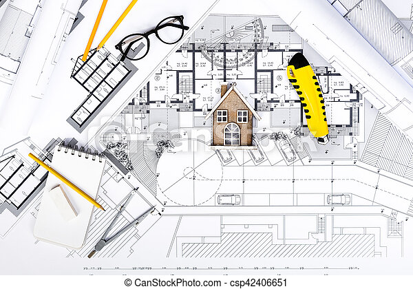 Modèles Plans Maison Miniature Construction Outils Dessin