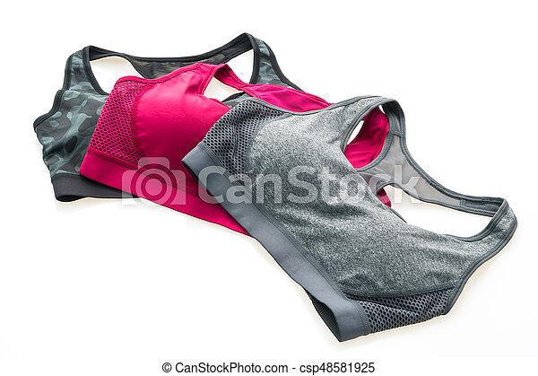 moda, deporte, sostén - csp48581925