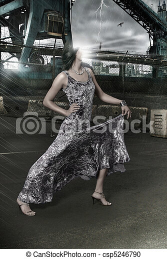moda, faceless - csp5246790