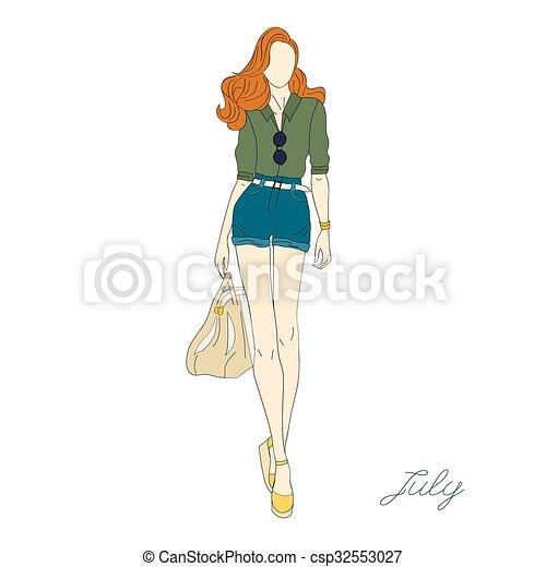 Chicas de moda. - csp32553027