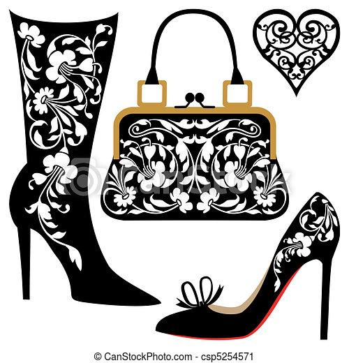 moda, ilustração - csp5254571