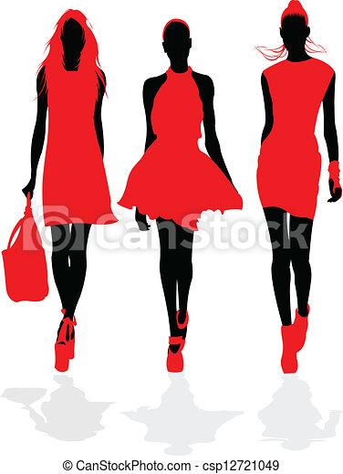 moda, models. - csp12721049