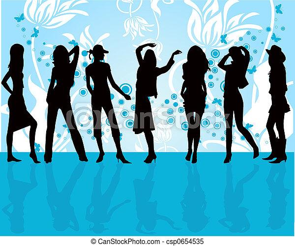 moda, niñas - csp0654535