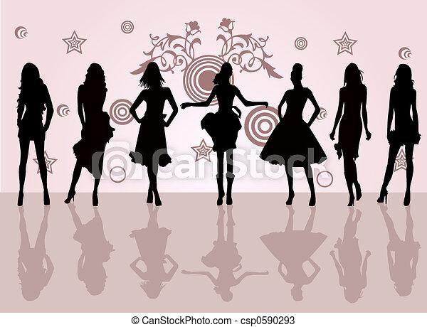 moda, niñas - csp0590293