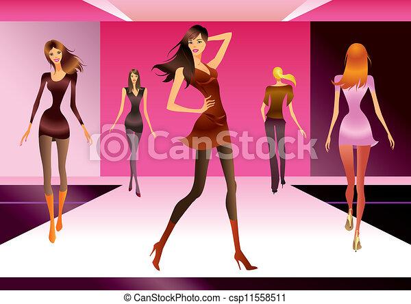moda, revisione, modelli - csp11558511