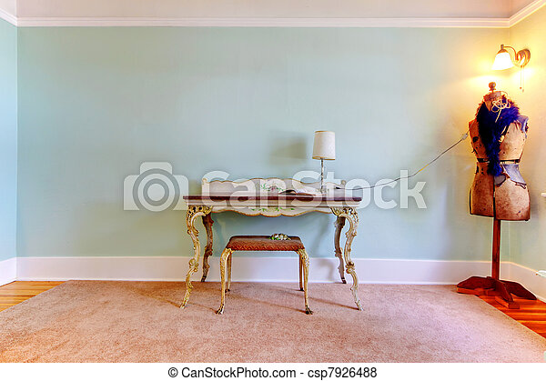 moda, sala, escritório, criativo, estúdio, interior., lar - csp7926488