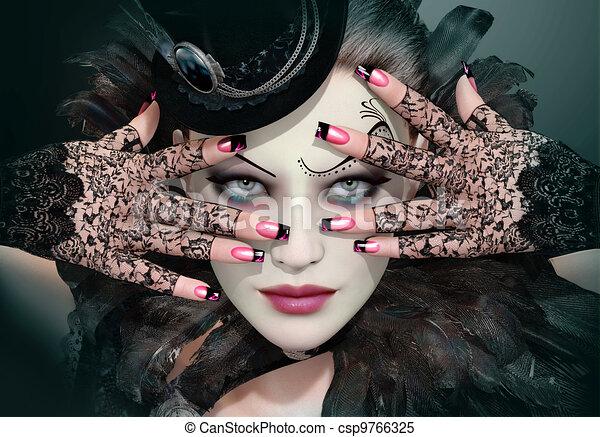 moda, senhora - csp9766325