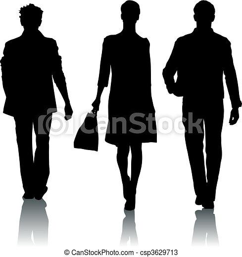 moda, silhouette - csp3629713