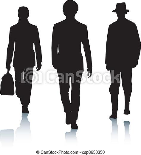 Hombres de moda silueta - csp3650350