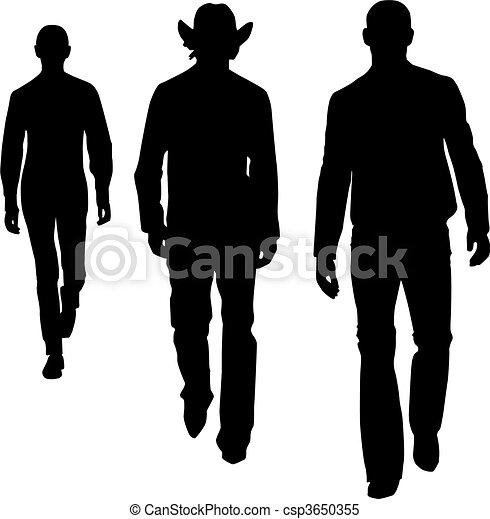 Hombres de moda silueta - csp3650355