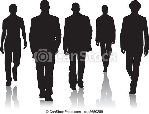 Hombres de moda silueta - csp3650289