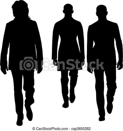 Hombres de moda silueta - csp3650282