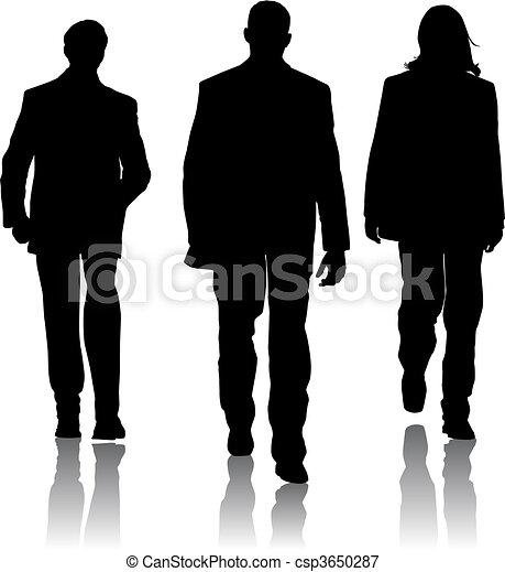 Hombres de moda silueta - csp3650287
