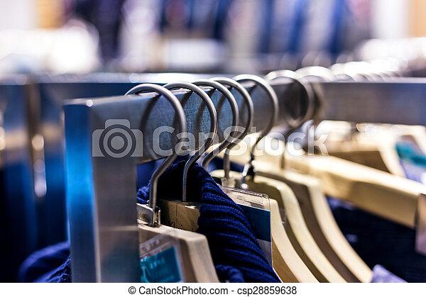 mode, ankleiden gestell, textanzeige - csp28859638