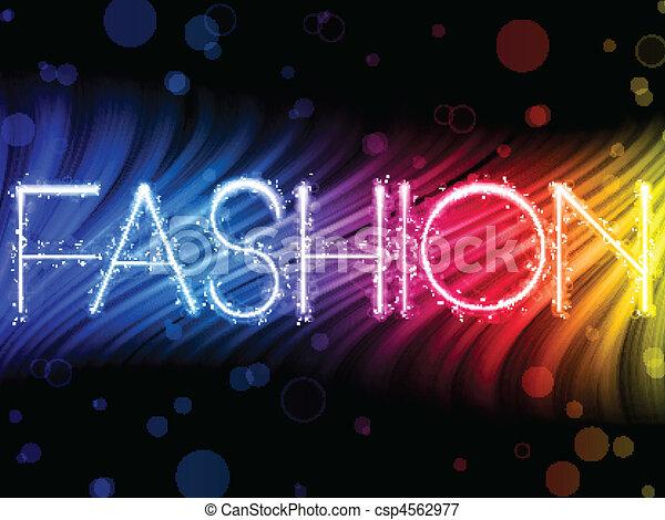 mode, färgrik, abstrakt, svart fond, vågor - csp4562977
