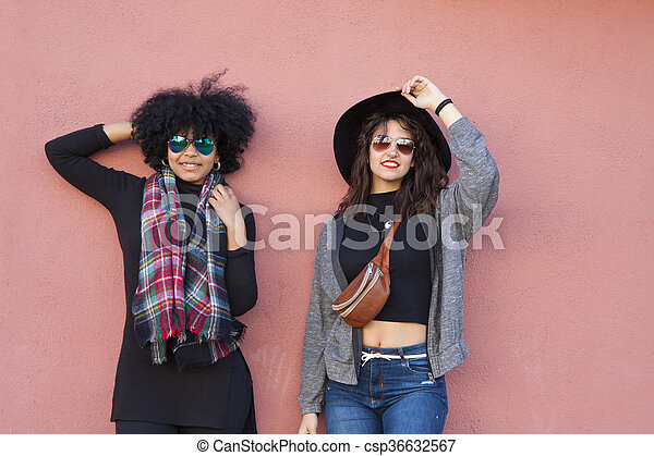mode, filles, rue - csp36632567