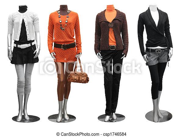 mode, kleiden, schaufensterpuppen - csp1746584