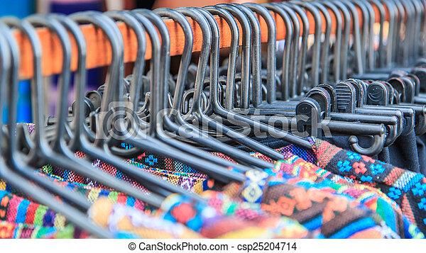 mode, kleidung, kleiderbügel - csp25204714