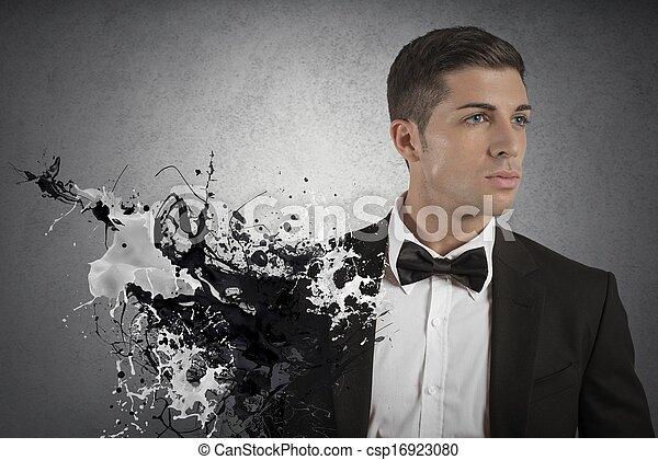 mode, skapande, man - csp16923080