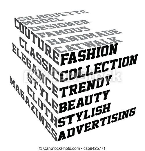 mode, termes, typographie - csp9425771