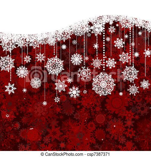 model, 8, red., eps, kerstmis, nieuw jaar, witte  - csp7387371