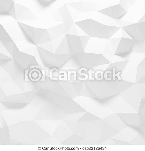model, abstract, faceted, geometrisch - csp23126434