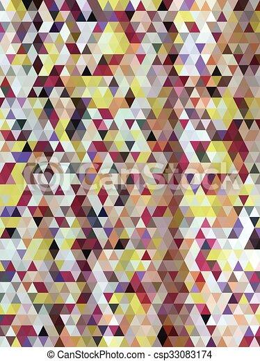model, abstract, kleurrijke, driehoeken - csp33083174