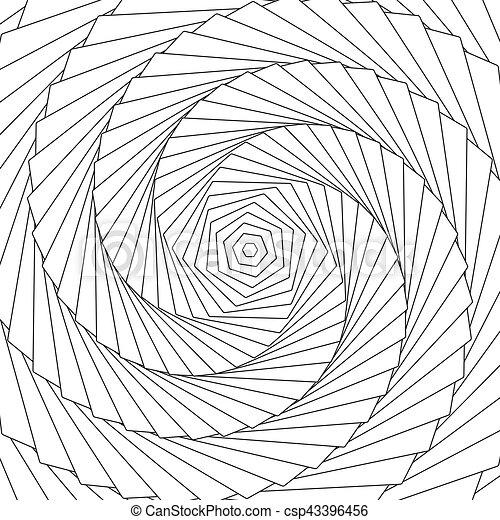 model, abstract, lijnen, ronddraaien, radiaal, geometrisch, circulaire - csp43396456