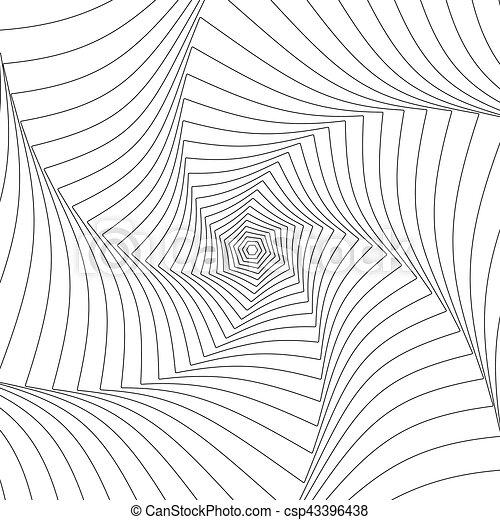model, abstract, lijnen, ronddraaien, radiaal, geometrisch, circulaire - csp43396438